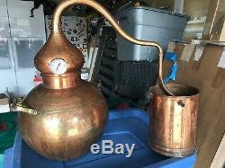 Copper Moonshine and whiskey Still 10 L 2.5 Gallon from Whiskey Still Company
