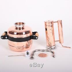 Copper moonshine still Distiller Alcohol 2 Gallon Whiskey Still Liquor Vodka 8l