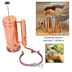 Copper still Flavored alcohol distiller Ukrainial alembic 5 l \ 1,3 g Moonshine