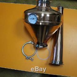 Copper whiskey helmet & Column Onion Bulb 4 Flute still Moonshine Distiller set