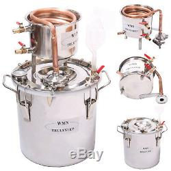 DIY 10 L Litres Home Distiller Moonshine Copper Still Spirits Water Alcohol Oil