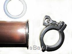 DIY 2, 3, 4 Copper moonshine E85 reflux still column, boiler adapter kit