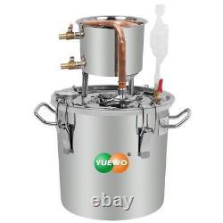 DIY 2-8 Gal Moonshine Still Alcohol Distiller Water Essential Oil Fermenter Keg