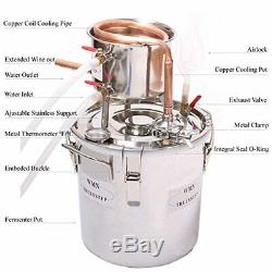 DIY 2 Gal 10 Liters Copper Alcohol Moonshine Stills Ethanol Still Spirits Boiler