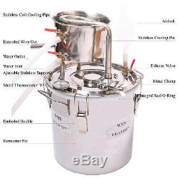 DIY Home Distiller Boiler Moonshine STILL Brandy Alcohol Water Hydrosol Oil Brew