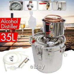 DIY Home Distiller Boiler Moonshine Still Spirits COPPER Water Alcohol Oil Brew