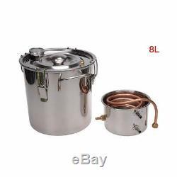 DIY Home Distiller Boiler Moonshine Still Spirits Water Alcohol Oil Brewing Kit