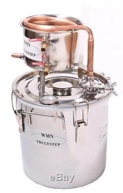 DIY Home Distiller Moonshine Still Spirits COPPER Cooler Water Alcohol Oil Brew