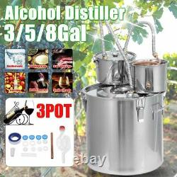 Distiller Moonshine Alcohol Still Stainless Copper Brew Water Wine Oil Brewing