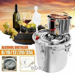 Distiller Moonshine Still Stainless Copper Home Brew Water Wine Oil Brewing Kit