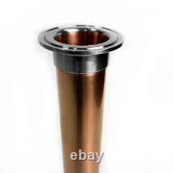 Distiller copper extension pipe 1.5 inch x 400 mm for moonshine still column