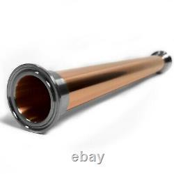 Distiller copper extension pipe 2 inch x 400 mm for moonshine still column