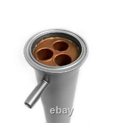Distiller copper shotgun condenser 2 inch x 400 mm for moonshine still column