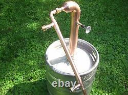 Easy Keg Beer Kit Copper 2 inch Moonshine Pipe pot Still Distillation Column
