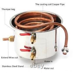 Ethanol Water Home Distiller Brewing Wine Making Moonshine Still Copper 30L Set