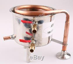 Fit 2 Pot Moonshine still / Distiller Stainless Steel / Copper Coil Cooling Pot