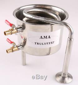 For 2 Pot Moonshine still / Distiller Coil Cooling Pot Copper / Stainless Steel