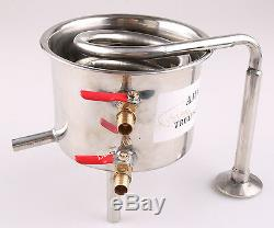 For 2 Pot Moonshine still / Distiller Stainless Steel / Copper Coil Cooling Pot