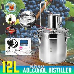 Home Water Wine Alcohol Distiller Moonshine Still Boiler Stainless Copper 3 Gal