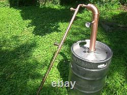 Keg Easy Beer Kit Copper 2 inch Moonshine Pipe pot Still Distillation Column