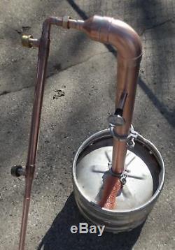 Kit Beer Keg ELBO 2 inch Copper Moonshine Still Column reflux with 1' extension