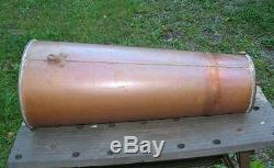 Large 26 1/2 Long Old Handmade Copper Moonshine Still Funnel Folded Solder Seam