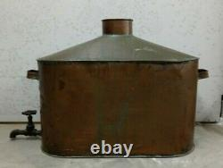 Large Antique 42 Gallon, Moonshine Whiskey, Copper Still withSpigot