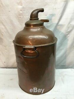 Large Vintage Copper Tub Moon shine Still Corn Mash Boiler Pot 5 gallon