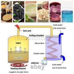 Moonshine 2/3/5/8 GAL 2POT Alcohol Distiller Copper Wine Maker Water Still UK