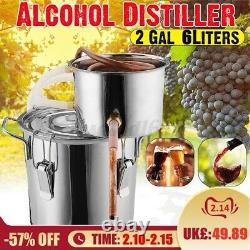 Moonshine 2 GAL 2POTS Alcohol Distiller Copper Wine Maker Water Still Boiler