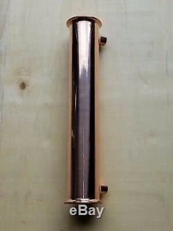 """Moonshine 2/"""" Copper Dephlegmator Works on flute or column stills"""