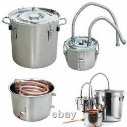 Moonshine 5 GAL 3POTS Alcohol Distiller Copper Wine Maker Water Still Boiler 20L