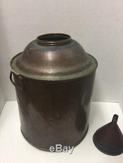 Moonshine Copper 5 gallon Still Can with Screw On Funnel