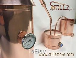 Moonshine Still-10 Gallon-Heavy 20oz. Copper- Thumper and Worm Included