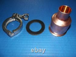 Moonshine Still Easy Beer Keg 2-1 Copper Pipe Column Adapter Tri Clamp alcohol