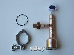Moonshine Still Head Beer Keg Kit with thermometer 2 x 3/4 Copper Tri Clamp