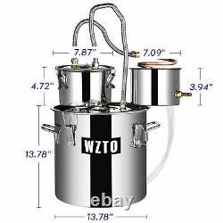 Moonshine Still Spirits 2/3 Pots Alcohol Distiller Copper Wine Maker Water Still