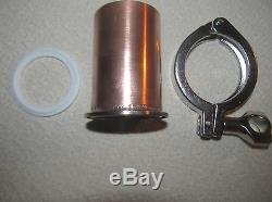 Moonshine e85 still beer keg sanke sanitary 3 copper stainless fitting adapter