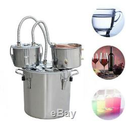 NEW 3 Pots Copper Distiller 30L Moonshine Spirits Still Water Alcohol Water Oil
