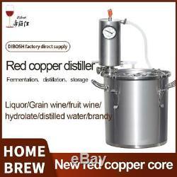 New Red copper Moonshine Still Homebrew 12L/20L/33L Home Brewing Vodka brandy