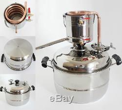 New Stainless&Copper Moonshine Still Water Alcohol Distiller Boiler Brew Kits