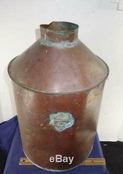 Original Antique Prohibition Moonshine Copper Whiskey Still Pot Boiler Liquor