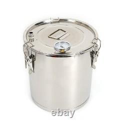 Pots Alcohol Distiller Moonshine Still Boiler 22L Stainless Steel Copper Brandy