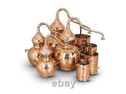 Premium Copper Moonshine Alembic Still 5 L with thermometer/ aprox 1.5 Gallon