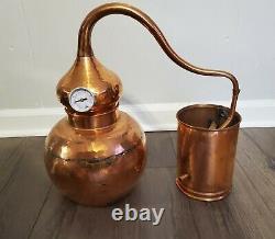Premium Copper Moonshine Alembic Still with thermometer/ aprox 1.5 Gallon