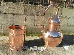 Premium Copper Moonshine & Whiskey Alembic Still with thermometer 30 L 7 Gallon