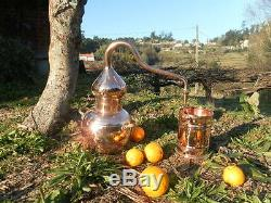 Premium Copper Moonshine and whiskey Alembic Still 1.25 L 0.25 Gallon