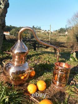 Premium Copper Moonshine and whiskey Alembic Still 1 L 0.25 Gallon