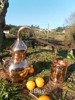 Premium Copper Moonshine and whiskey Alembic Still 1 L 0.25 Gallon