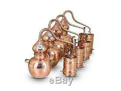 Premium Copper Moonshine & whiskey Alembic Still 2 L withthermometer 0.5 Gallon